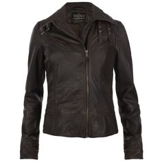Belvedere Leather Jacket ($395) ❤ liked on Polyvore