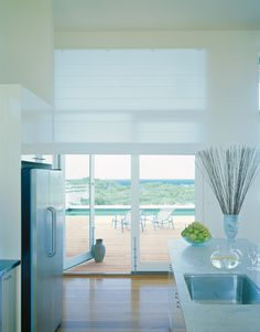Roman Shades - Beach - Roman blinds with a contemporary look and feel.