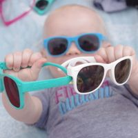 ro.sham.bo baby sunglasses. Comfortable, safe and benefit autism research