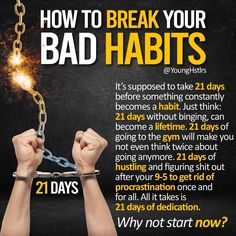 🚨🚨What's a bad habit you'd like to change?🤔👇 If you really break down the process to change your habits, it really isn't that difficult😮 The first few days at the beginning and mi Personal Development Skills, Self Development, Study Motivation Quotes, Business Motivation, Entrepreneur Motivation, Motivation Success, Motivational Picture Quotes, Inspirational Quotes, Motivational Videos