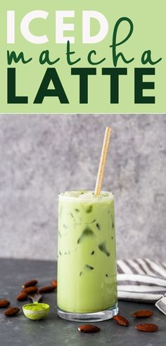 DIY Iced Matcha Green Tea Latte | Gimme Delicious