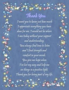 Thank You Quotes For Support, Thank You Quotes For Friends, Special Friend Quotes, Words With Friends, Thank You Messages, Thank You Gifts, Thank You For Birthday Wishes, Friend Poems, Happy Birthday