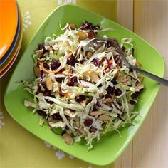 Poppy Seed Slaw Recipe -This colorful side can be put together in minutes for a tasty accompaniment to any backyard barbecue. —Mary McRae, Coldwater, Michigan