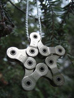 Bike chain ornaments! Smart!