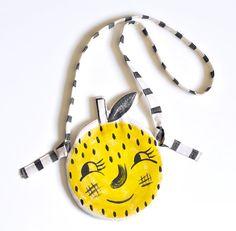 Roxy Marj Lemon Face Pocket Purse by Romawinkel