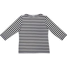 Crate & Barrel Marimekko Tasaraita Ilma Black and White 3/4-Sleeve... (£66)…