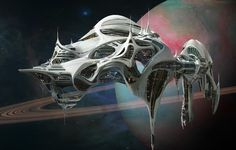 concept ships: The Otherworldy Adventures of Tyler Washburn space station by Dylan Cole
