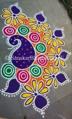 Rangoli Colours, Rangoli Patterns, Colorful Rangoli Designs, Rangoli Ideas, Rangoli Designs Diwali, Diwali Rangoli, Beautiful Rangoli Designs, Kolam Designs, Free Hand Rangoli