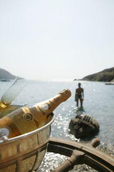 Cristal on the private beach | Mykonos, Greece