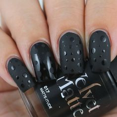 The Digit-al Dozen Does Black: Glossy & Matte Polka Dots by Olivia Jade Nails