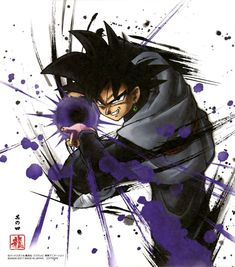 Dragon Ball Shikishi ART 3 Black goku