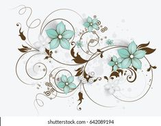 Creative Wall Painting, Wall Design, Swirls, Floral Design, Royalty Free Stock Photos, Wallpaper, Illustration, Scrapbook, Spring