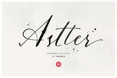 Astter Fonts Astter is classic handwritten font, every single letters have been carefully crafted to make your te by vuuuds Handwritten Fonts, Typography Fonts, Script Fonts, Creative Typography Design, Lettering Design, Creative Design, Hand Lettering, Beautiful Fonts, Modern Fonts