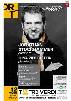 Concerto Stockhammer Zilberstein | 2015 | ORT Graphics kisdtudio | foto Marco Borggreve | poster design Elisa Basile