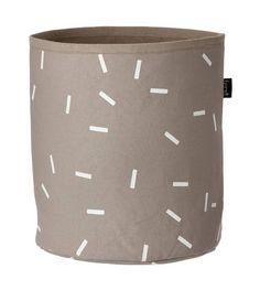 Ferm Living Mand Stick Basket grijs/bruin wit small 22x25cm - wonenmetlef.nl