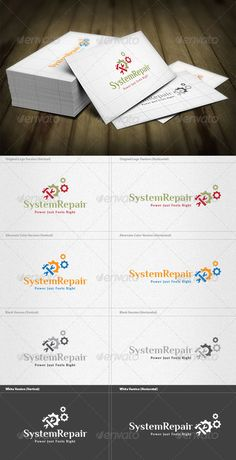 System Repair Logo - Objects Logo Templates