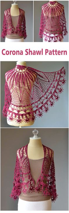 Crochet Bolero, Crochet Cardigan, Crochet Scarves, Free Crochet, Knit Crochet, Knit Shawls, Shawl Patterns, Crochet Stitches Patterns, Crochet Designs