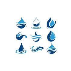 Water Drop Logo Template Vector Illustration Design S Logo Design, Icon Design, Transparent Wallpaper, Water Drop Logo, Water Icon, Wheel Logo, Guitar Drawing, Illustration, Logo Concept
