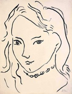 Henri Matisse - Portrait de Marguerite, 1906-07. Brush and India ink on paper