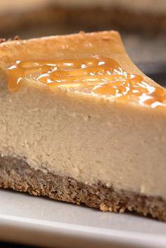 Receta del caramelo de la pacana pastel de queso
