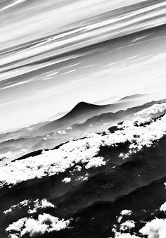 Mt. Fuji, Japan #photography #black and white #landscape
