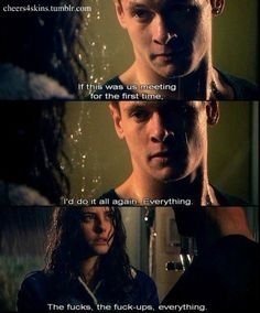 Cook and effy skins uk Sad Movies, Series Movies, I Movie, Movies And Tv Shows, Tv Series, Skins Generation 2, Skins Uk, Drama, Tv Quotes