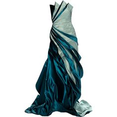 CarlosMiele2 -Editado por dehti ❤ liked on Polyvore featuring dresses, gowns, long dresses, vestidos, платья, long blue dress, blue evening gown, blue evening dresses and blue gown