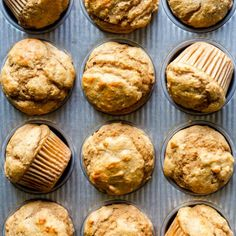 These Healthy Peanut Butter Banana Muffins are naturally sweetened with maple syrup, and packed full of healthy ingredients you can feel good about. They make a perfect after workout snack, make ahead breakfast or a snack for kids and toddlers! Healthy Peanut Butter, Peanut Butter Banana, Creamy Peanut Butter, Healthy Muffin Recipes, Baby Food Recipes, Dessert Recipes, Toddler Recipes, Healthy Muffins, Banana Recipes
