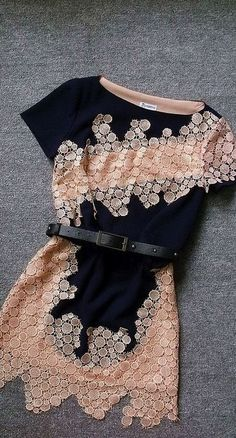 Embroidered Slim Irregular Dress - I'd love this with ankle tights and cute dressy ballet flats for an evening out! Beauty And Fashion, Look Fashion, Passion For Fashion, Womens Fashion, Cheap Fashion, Fashion Spring, Blue Fashion, Affordable Fashion, Curvy Fashion