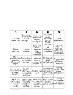 AHA Bingo