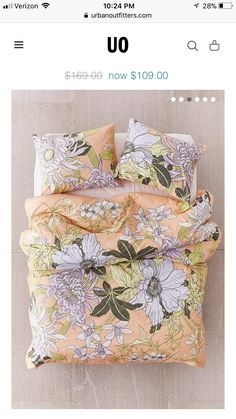 Shop Botanical Scarf Comforter Snooze Set at Urban Outfitters today. We carry all the latest styles, colors and brands for you to choose from right here. Peach Decor, Green Comforter, Bohemian Bedroom Decor, Make Your Bed, Interior Design Inspiration, Style Inspiration, New Room, E Design, Dorm Room