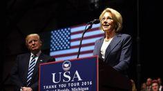 Trump education pick to face Warren, Sanders
