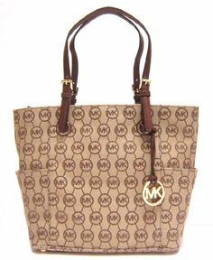 Michael Kors Jet Set Tote in Beige / Ebony / Mocha (Brown) (MK Handbags, Bags, Totes) | Traveling Of Life #fashion #women #bags #shoes #clothing