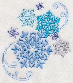 embroidery hoop crafts | Machine Embroidery Designs at Embroidery Library! - Winter Snowflake ...