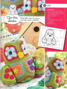 Crochet Quilt, Crochet Mandala, Crochet Squares, Crochet Motif, Crochet Flowers, Crochet Patterns, Owl Patterns, Amigurumi Patterns, Flower Patterns