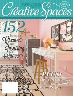 My scraproom in the creative spaces magazine