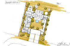 drew architects | courtyard farmhouse | sketch