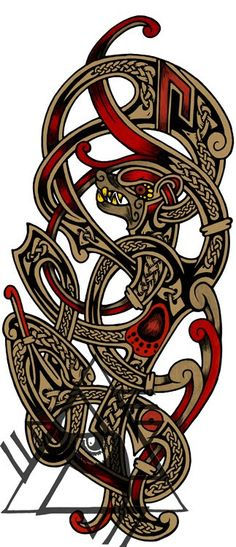Recent Custom Works: Some Norse Tattoo Designs | Wodenswolf's Blog on Artician