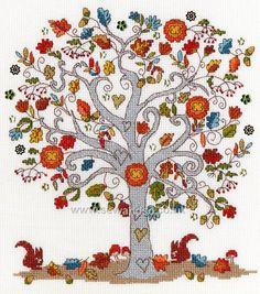 Buy Love Autumn Cross Stitch Kit Online at www.sewandso.co.uk