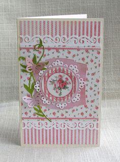 Card: love the tiny print, so feminine!