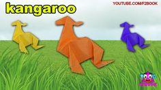 Origami Kangaroo For Kids Paper Folding || F2BOOK Videos 120 Paper For Kids