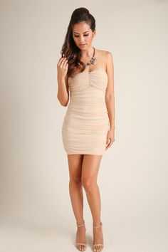 Juliet Lace Strapless Nude Dress – Morning Lavender