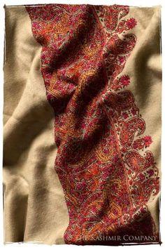 6e5ed7eaec ... Kashmiri Embroidery. How To Wear Pashminas Shawl Watches 18+ Ideas
