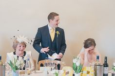Delicate Lace By Justin Alexander For A Pretty Yellow Barn Wedding