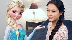 Elsa, Frozen, Disney Princess, Hair Styles, Youtube, Hair Plait Styles, Hairdos, Haircut Styles, Hairstyles