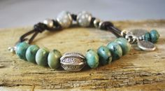 African Trade Bead Bracelet Sundance Style by JanetMiriamDesigns, $76.00