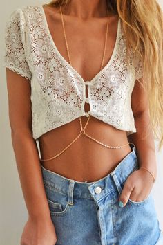 Awesome. I would wear this with nothing underneath ... except for the sexy body chain