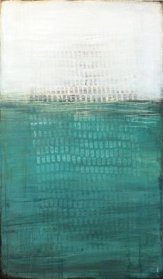 """To the Bottom of the Ocean"" ~Karine Léger #art #painting #abstract"