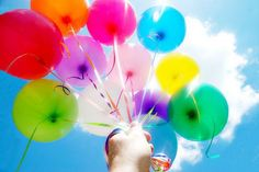Colorful pic - balloon release