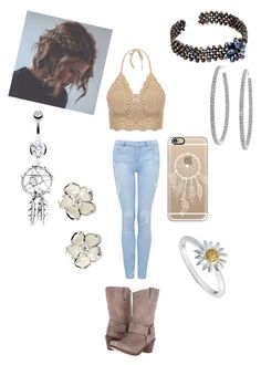 """Summer country outfit"" by purdysrebel on Polyvore featuring Forever New, Frye, NOVICA, Casetify, Sterling Essentials, Bling Jewelry, Shaun Leane, Daisy Jewellery and country"